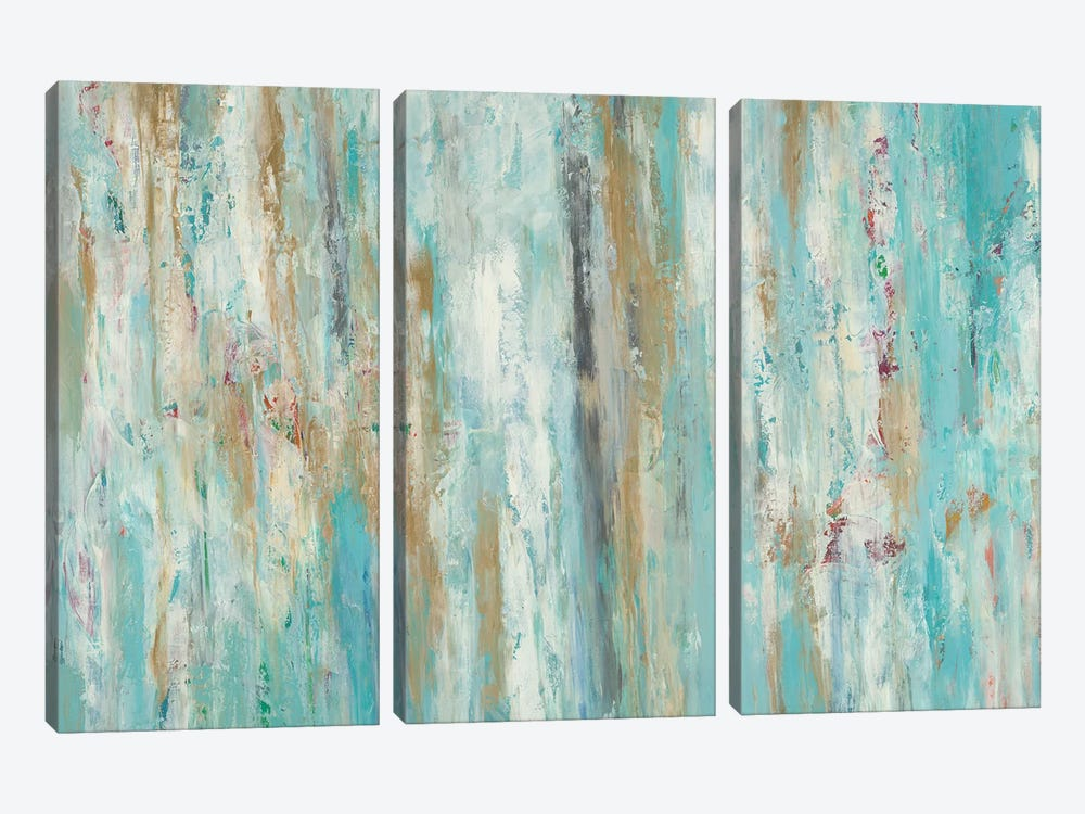 Stream Of Teal by Blakely Bering 3-piece Canvas Art
