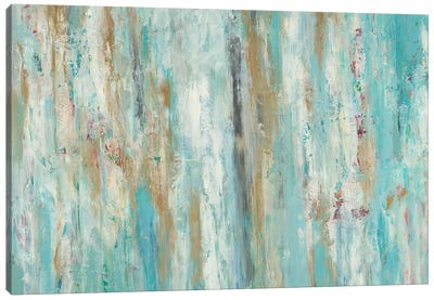 Stream Of Teal Canvas Art Print