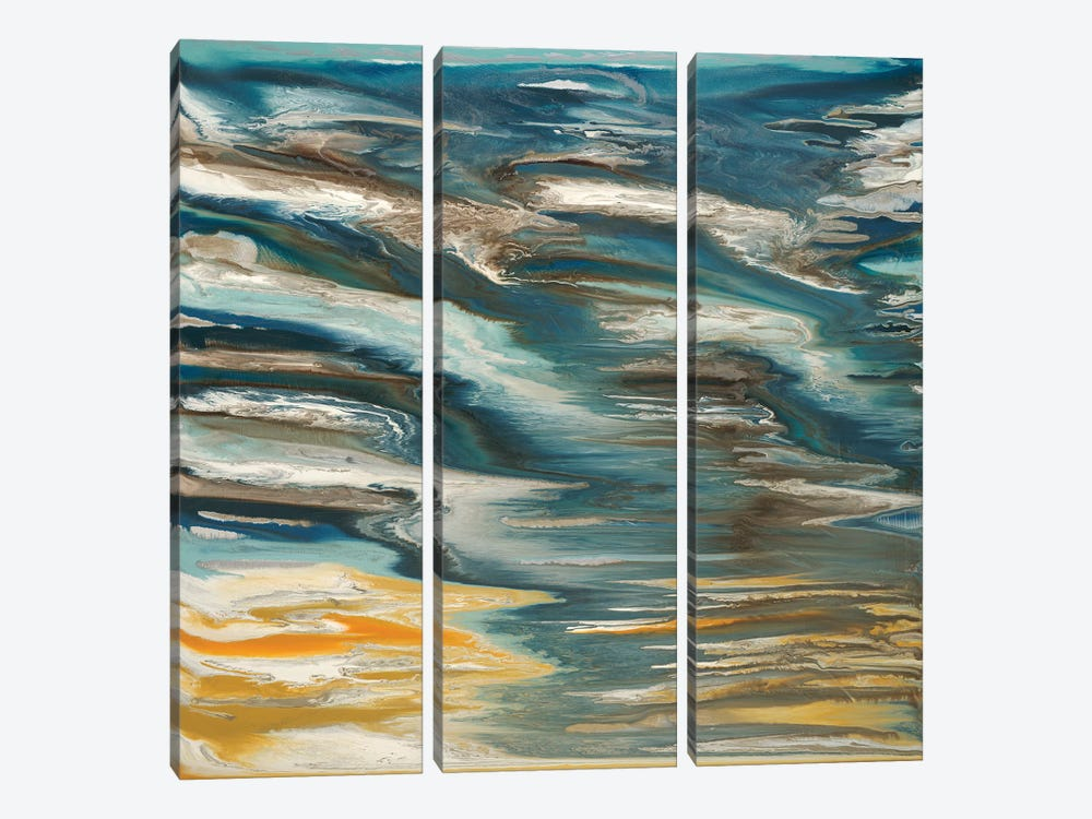 Wave Reflections by Blakely Bering 3-piece Canvas Wall Art