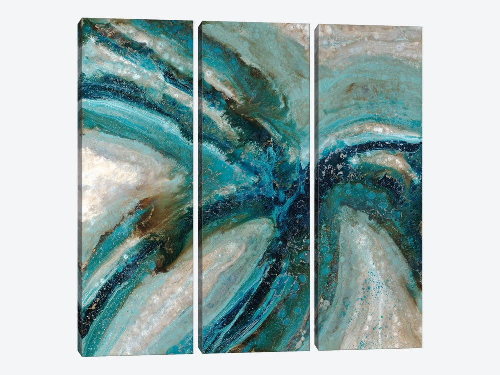 Blossom In The Rain by Blakely Bering 3-piece Canvas Art