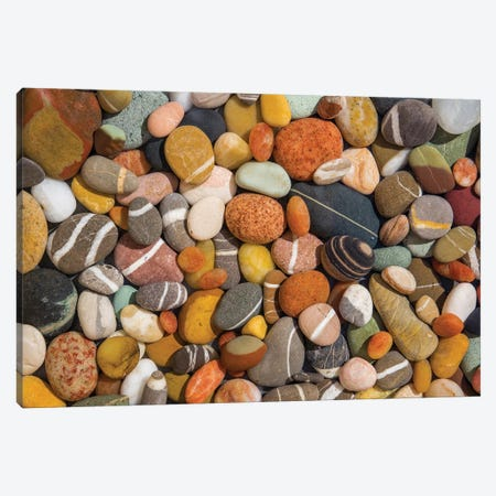 Beach Stones Collection Canvas Print #BMA8} by Barbara Markoff Canvas Artwork