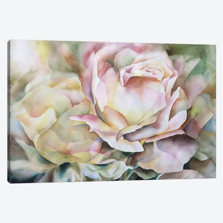 Fractured Peach Rose Canvas Print #BMD19} by Betsy McDaniel Canvas Print