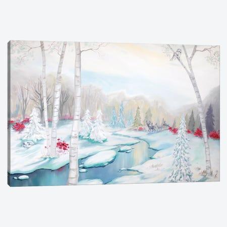 Frozen Stream 3-Piece Canvas #BMD21} by Betsy McDaniel Canvas Art
