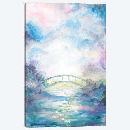 Green Foot Bridge Canvas Print #BMD24} by Betsy McDaniel Canvas Art Print