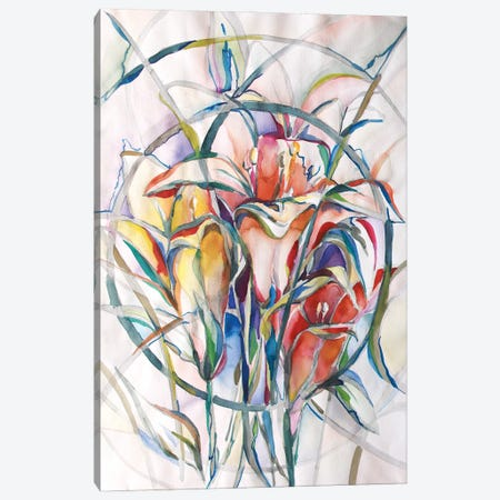 Sanctuary Lillies Canvas Print #BMD43} by Betsy McDaniel Canvas Wall Art