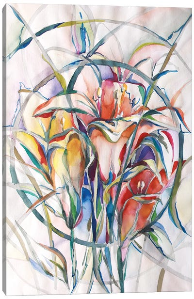 Sanctuary Lillies Canvas Art Print