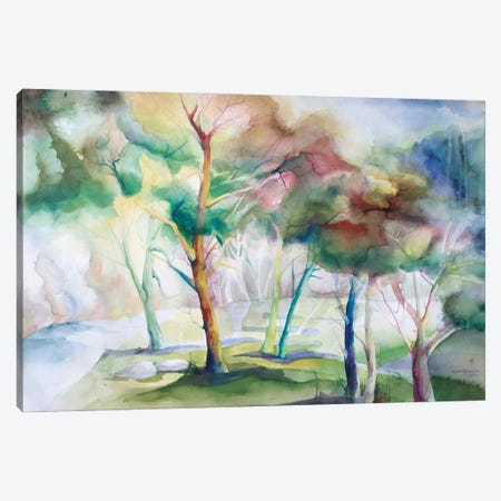 Viridian Meadow Canvas Print #BMD51} by Betsy McDaniel Canvas Art Print