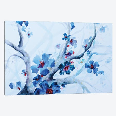 Brandy Bleu Drizzle Canvas Print #BMD56} by Betsy McDaniel Canvas Art