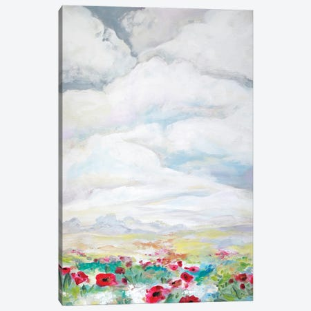Big Sky Poppies 3-Piece Canvas #BMD6} by Betsy McDaniel Canvas Art