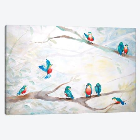 Blue Bird Community Canvas Print #BMD9} by Betsy McDaniel Canvas Art Print