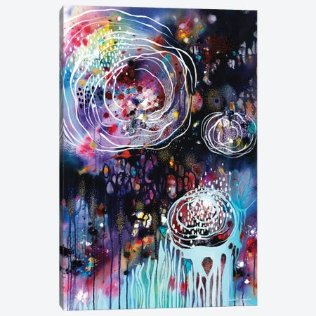 Raindrops & Resonance Canvas Print #BMG18} by Brenda Mangalore Canvas Wall Art