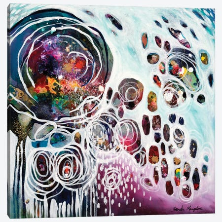 Pouring Resonance Canvas Print #BMG31} by Brenda Mangalore Canvas Wall Art