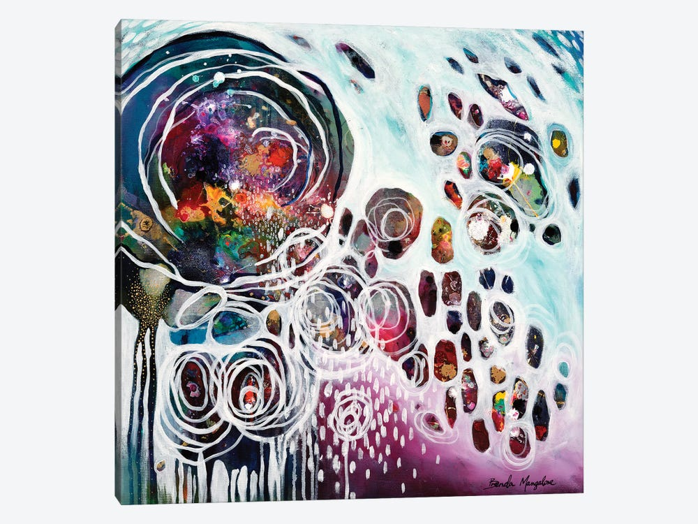 Pouring Resonance by Brenda Mangalore 1-piece Canvas Artwork