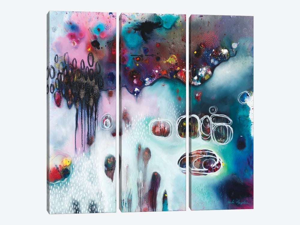 Sweet Surrender For The Mess by Brenda Mangalore 3-piece Canvas Artwork