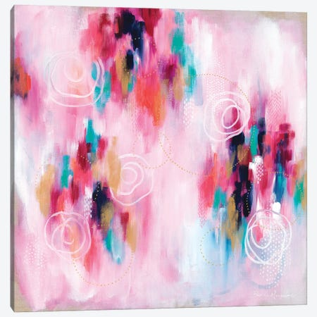 Seeking Soul VI - Pink Canvas Print #BMG35} by Brenda Mangalore Art Print