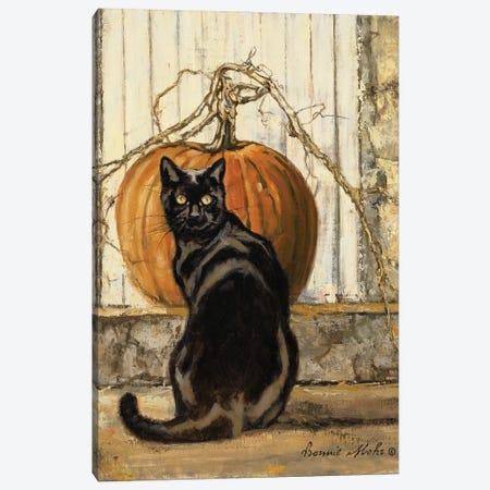 Black Cat Canvas Print #BMH2} by Bonnie Mohr Art Print