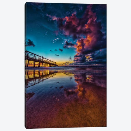 Jetty Reflection Canvas Print #BML13} by Ben Mulder Canvas Print