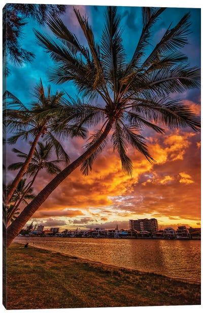 River Sunset Canvas Art Print