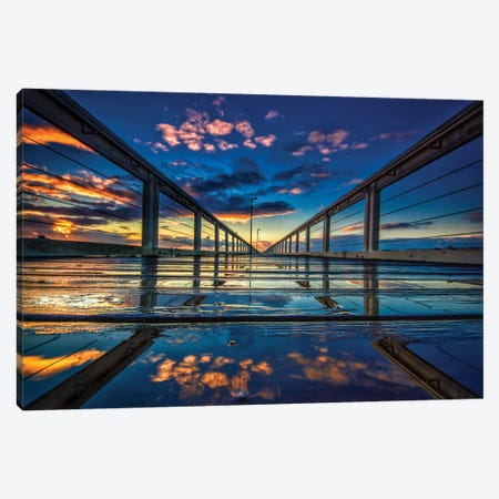 Jetty Perspective Canvas Print #BML33} by Ben Mulder Art Print