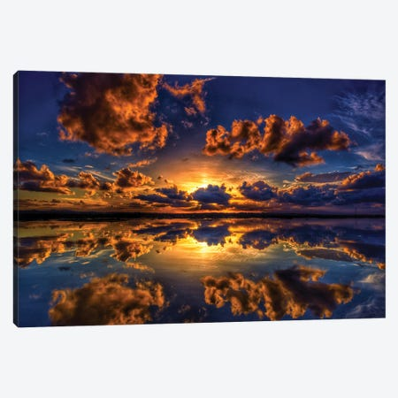 Sunset Explosion Canvas Print #BML48} by Ben Mulder Canvas Artwork