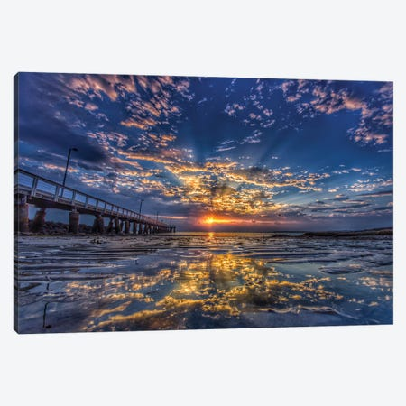 Light At The End Of The Jetty Canvas Print #BML56} by Ben Mulder Canvas Art
