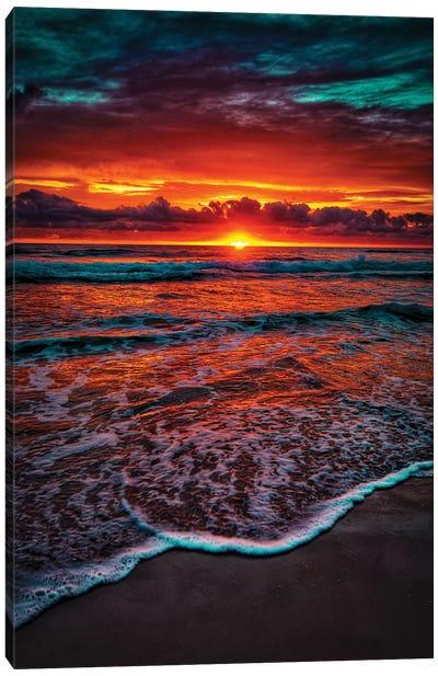 Orange Ocean Glow Canvas Art Print