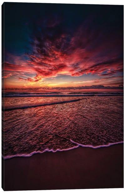 Red Ocean Skies Canvas Art Print