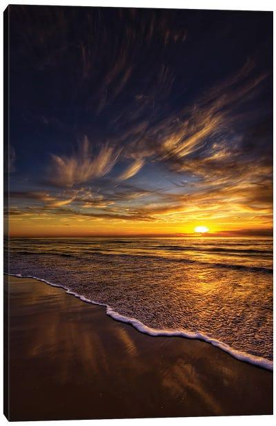 Golden Waves Canvas Art Print