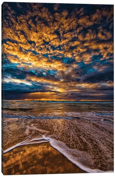 Golden Clouds Canvas Art Print