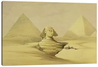"""The Great Sphinx and the Pyramids of Giza, from """"Egypt and Nubia"""", Vol.1  Canvas Art Print"""