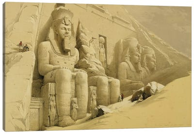 """The Great Temple of Abu Simbel, Nubia, from """"Egypt and Nubia"""", Vol.1  Canvas Art Print"""