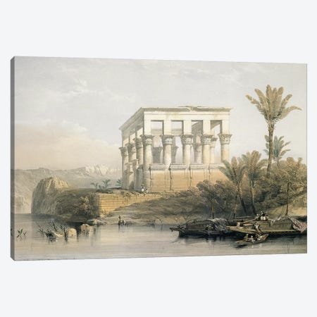 The Hypaethral Temple at Philae, called the Bed of Pharaoh, engraved by Louis Haghe, pub. in 1843  Canvas Print #BMN10002} by David Roberts Art Print