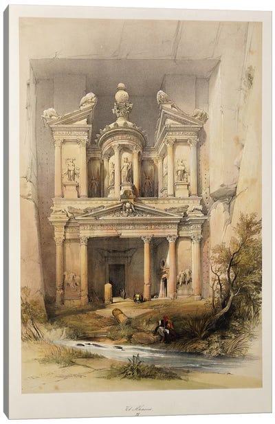 The Treasury - El Khasne, from 'The Holy Land' series, 1842-1849  Canvas Art Print