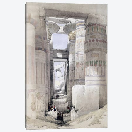 """View through the Hall of Columns, Karnak, from """"Egypt and Nubia"""", Vol.1  Canvas Print #BMN10006} by David Roberts Canvas Wall Art"""
