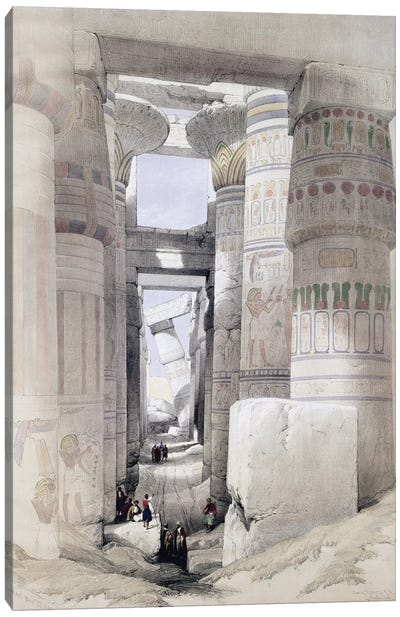 "View through the Hall of Columns, Karnak, from ""Egypt and Nubia"", Vol.1  Canvas Art Print"