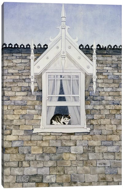 St.Helier Dormer Cat Canvas Art Print