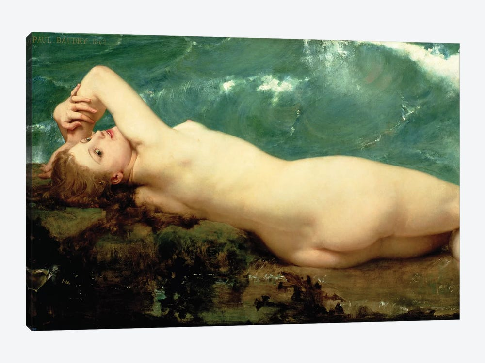 The Pearl and the Wave, 1862  by Paul Baudry 1-piece Canvas Print