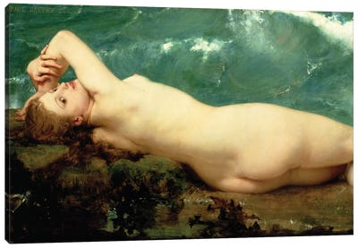 The Pearl and the Wave, 1862  Canvas Art Print