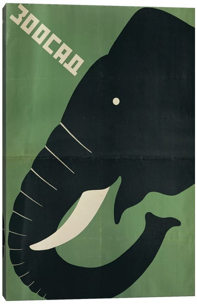 Poster for the Leningrad Zoo, 1928  Canvas Art Print