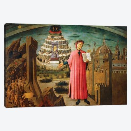 Divine Comedy, by Dante Alighieri , by Domenico di Michelino, 1465 Canvas Print #BMN10012} by Domenico di Michelino Canvas Wall Art