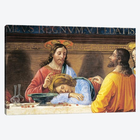 Italy, Florence, Refectory of Convent of San Marco, Jesus and St John, detail from Last Supper, 1485 Canvas Print #BMN10013} by Domenico Ghirlandaio Canvas Wall Art