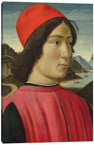 Portrait of a man, c.1490  Canvas Art Print