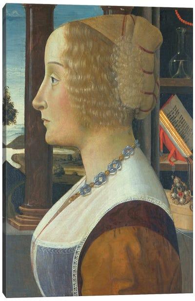Portrait of a woman, c.1490  Canvas Art Print