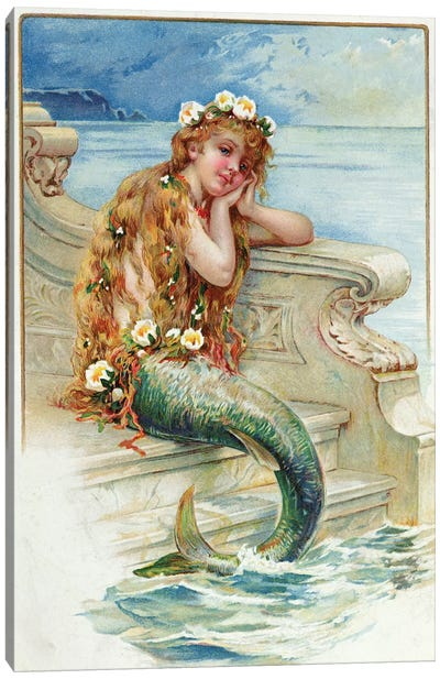 Little Mermaid, by Hans Christian Andersen   Canvas Art Print