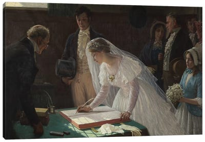Signing the Register  Canvas Art Print