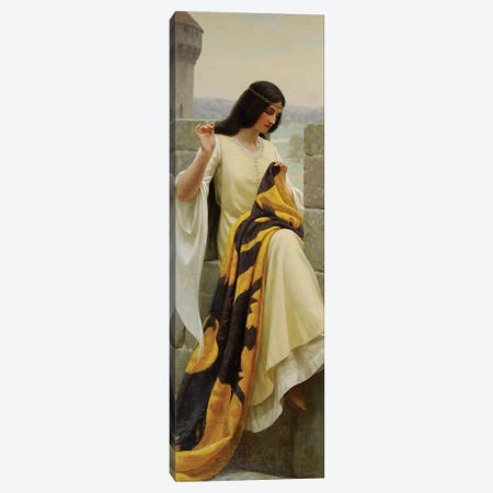 Stitching the Standard, 1911  Canvas Print #BMN10034} by Edmund Blair Leighton Canvas Print