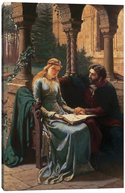 T33385 Abelard  and his Pupil Heloise , 1882  Canvas Art Print