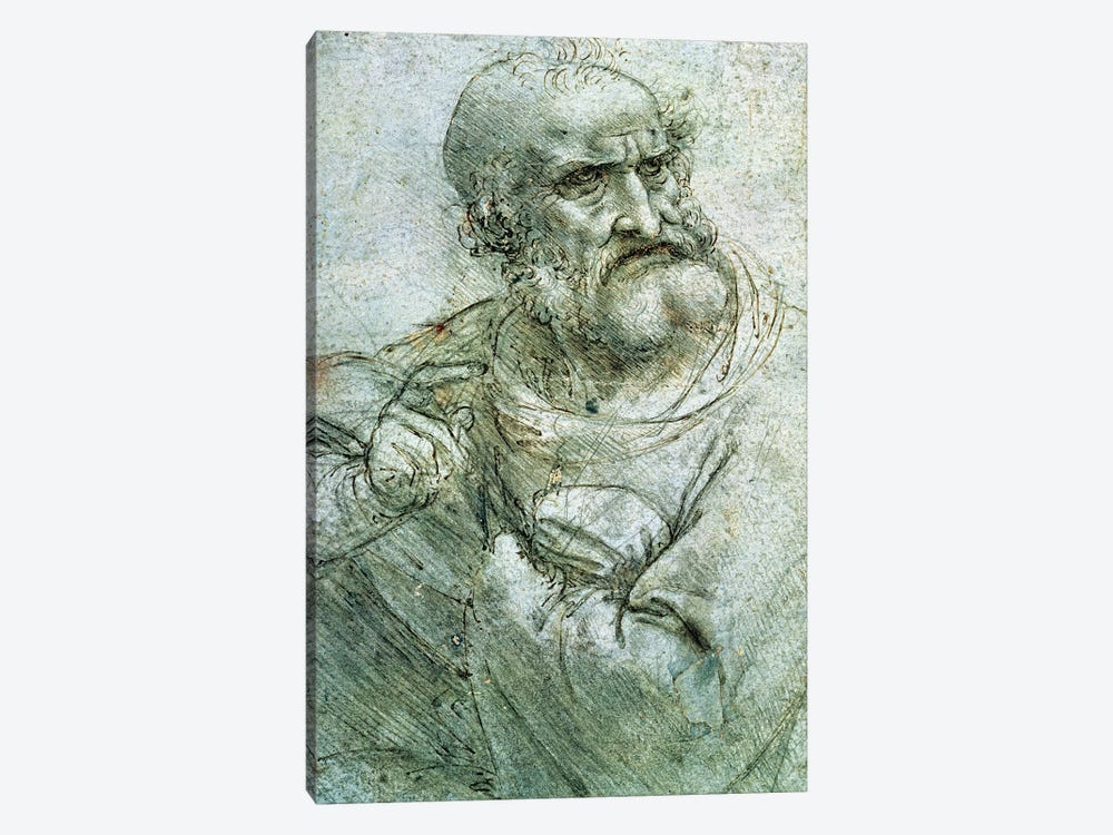 Study for an Apostle from The Last Supper, c.1495  by Leonardo da Vinci 1-piece Canvas Wall Art