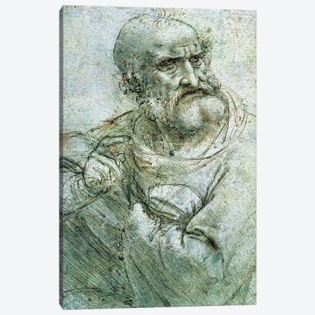 Study for an Apostle from The Last Supper, c.1495  Canvas Print #BMN1003} by Leonardo da Vinci Canvas Artwork