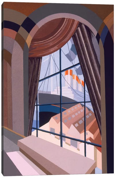 Large window with a seat, from 'Relais', c.1920s  Canvas Art Print